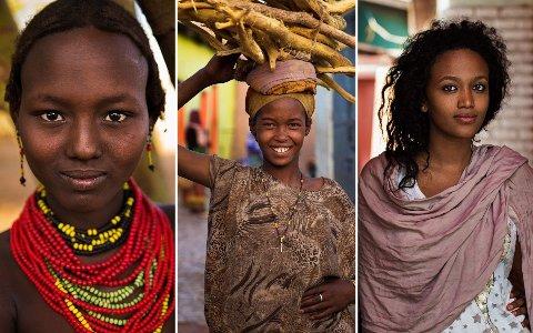 På en feriereise til Etiopia i 2013 ble Noroc fascinert av mangfoldet blant kvinnene - fra nakenhet, til hodesjal og moderne storbyliv.