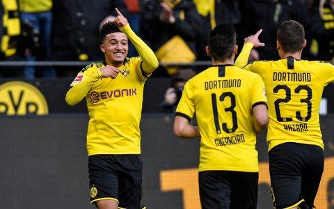 KOBLES TIL UNITED: Borussia Dortmund-spilleren Jadon Sancho.
