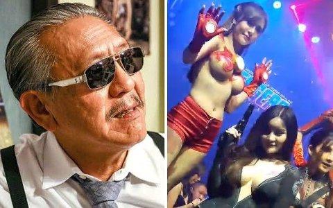GÅR HARDT UT: Tidligere nattklubbeier og massasje-konge av Bangkok, nå politiker og riksstemme, Chuvit Kamolvisit, har publisert bilder og video fra de to nattklubbene der han mener det foregår åpenbare brudd på smittevernsreglene med statsråders stilltiende samtykke.
