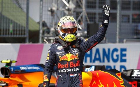 I RUTE: Red Bull-fører Max Verstappen skaffet seg beste startspor foran Østerrikes Grand Prix.