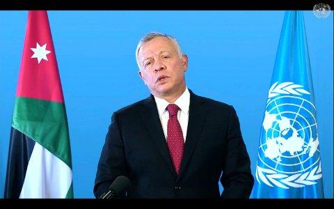 Jordans kong Abdullah har flyttet flere hundre millioner kroner til utlandet gjennom eiendomskjøp, ifølge mediene som har jobbet med lekkasjen. Foto: UN Web TV via AP / NTB