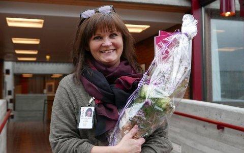 43 MILLIONER: Janne Ørsund Bruseth har god grunn til å smile bredt etter at hun ble mangemillionær onsdag. Foto: Oddvar Olafsen