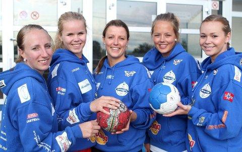 Nye fjes: Marthe Johansen (venstre), Maria Kongsli, Marianne Nilsen, Ellen Nordal og Martine Welfler er klare for BSK.
