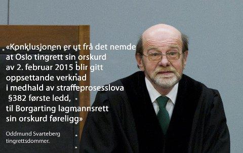 NYNORSK: Den erfarne tingrettsdommeren Oddmund Svarteberg skriver alle dommer og kjennelser på nynorsk.