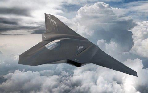 Utseende til den nye prototypen, og produsenten bak, er fortsatt strengt hemmelig. Bildet er en illustrasjon på hvordan produsenten Boeing ser for seg et futuristisk 6. generasjonsfly.