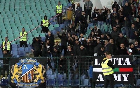 BRÅK: Bulgarske fans kom med rasistiske tilrop under EM-kvalifiseringskampen mot England.
