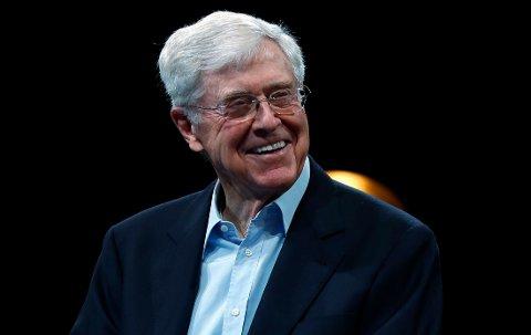 INNFLYTELSESRIK: Charles Koch bruker millioner av dollar årlig på å støtte konservative politikere og verdier.
