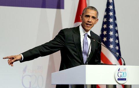 USAS PRESIDENT Barack Obama forsvarte mandag sin strategi overfor IS.