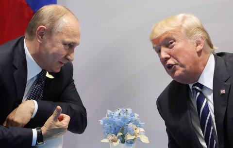 GRANSKES: Båndene mellom Russlands president Vladimir Putin og USAs president Donald Trump er gjenstand for gransking av FBIs spesialetterforsker Robert Mueller.