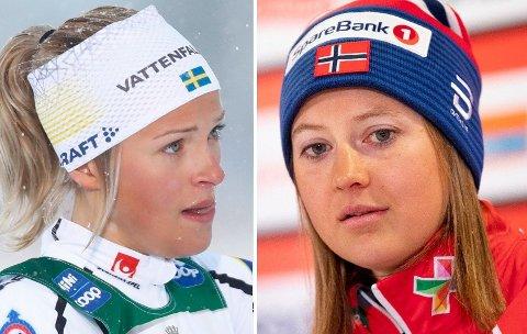 TO TILFELLER: Ingvild Flugstad Østberg (t.h) og Frida Karlsson har begge fått startnekt på grunn av helsemessige årsaker.