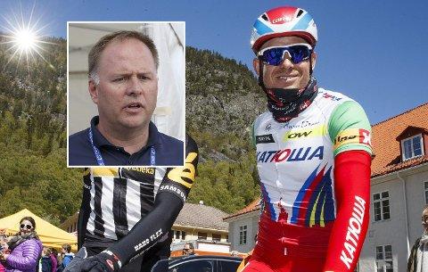 TERROR: Stein Ørn (innfelt) innrømmer at de tenker over muligheten for terror mot Tour de France.