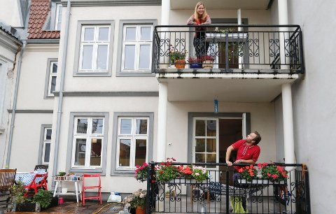 Magnus Knutsen Bjørke og Kristina Jullum Hagen slo til da leiligheten i andre etasje skulle selges.