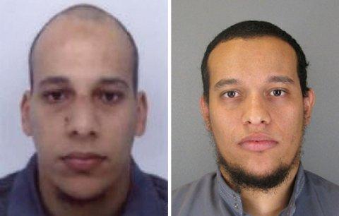 ETTERLYST FOR TERROR: Cherif Kouachi (32, t.v) og broren Said Kouachi (34, t.h.) er observert ti mil nord for Paris. Store styrker har rykket ut.