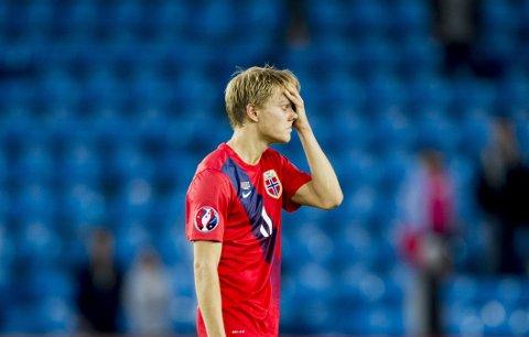 SENTRAL: Martin Ødegaard var sentral i mye av det som skjedde offensivt for Norge.