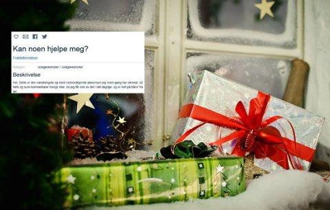 Alenemoren er så desperat at hun etterlyser gaver til barna på nett.