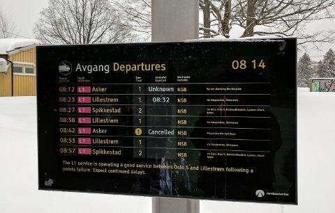 «Unknown» når et tog kommer? Dette er ikke godt nok NSB. Det er tog, ikke flyvende usynlige biler dere driver med.