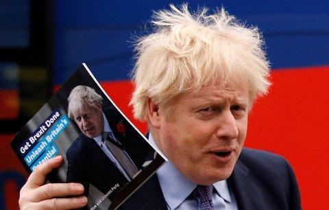 SIKRER MAKTEN: Storbritannias statsminister Boris Johnson gamblet høyt - og får betalt med renter. De konservative sikrer et solid flertall i det britiske parlamentet.