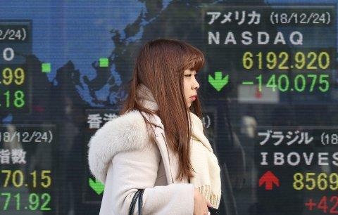 Børsfall over hele verden - tirsdag fortsetter de røde tallene på Asias børser.