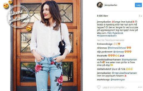 Vi elsker å følge Jenny Skavlan i sosiale medier.