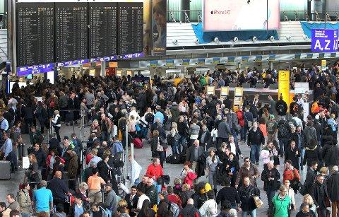 STREIK: Streik hos flygeledere har skapt problemer i Europa i år. Her fra en tidligere streik på Europas nest største flyplass, Frankfurt am Main.