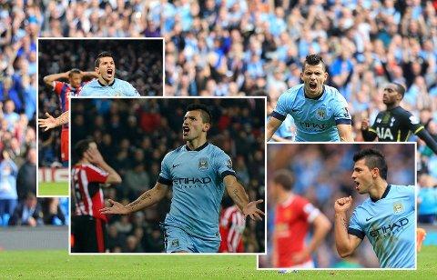 MÅLMASKIN: Sergio Agüero scorer og scorer og scorer, uansett hva motstanderen heter.