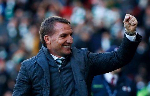 LYKKELGI SLUTT: Celtic-manager Brendan Rodgers hadde all grunn til å juble for cuptriumfen over erkerivalen Rangers. Kampen ble ikke avgjort før helt på tampen.