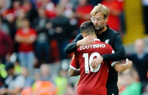 TAKK OG FARVEL? Liverpool-sjef Jürgen Klopp har fått forsikringer, men de gode nyhetene kommer ikke fra nøkkelspiller Philippe Coutinho.