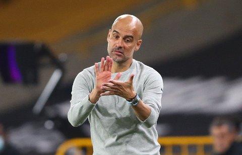 SEIER I PREMIEREN: Josep Guardiola og hans Manchester City tok tre poeng i sesongens første ligakamp.
