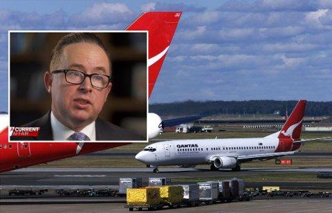 VAKSINEKRAV: Du får ikke fly utenlands med disse flyene uten å være vaksinert, varsler Quantas' toppsjef Alan Joyce.