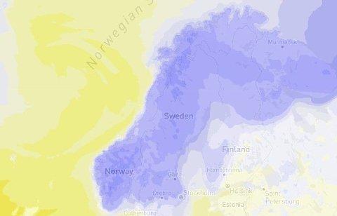 Det blir neppe satt noen ny varmerekord for januar-måned i år.