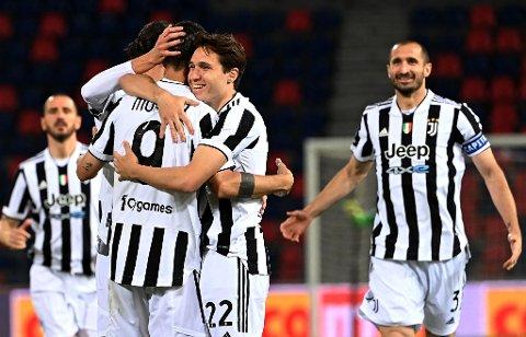 KAN JUBLE: Juventus sikret Champions League-plass med et nødskrik.