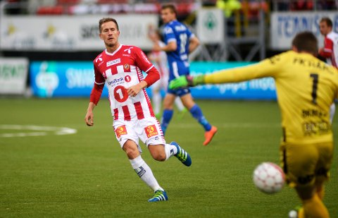 FERDIG FOR I ÅR: Tromsøs Morten Gamst Pedersen spiller ikke mer fotball denne sesongen. Bildet er fra hjemmekampen om Haugesund 9. juli.