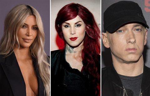 Kim Kardashian, Kat von D og Eminem er alle kjendiser som ikke drikker alkohol.