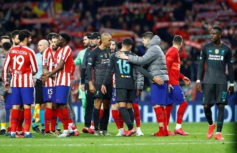 JUBLET: Atletico Madrid kunne juble for seier over Liverpool tirsdag kveld.