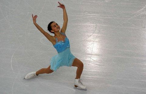 FORNØYD: Anne Line Gjersem i aksjon i kunsløp under Sotsji-OL.