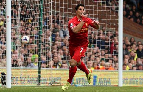 SELVSKREVEN: Liverpools Luis Suarez er med på årets lag.