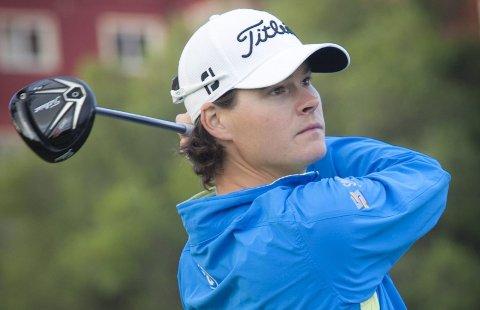 OVERRASKET: Espen Kofstad (27) overrasket mange med å spille svært stø og god golf gjennom 10 kvalifiseringsrunder. Med 10. plass til slutt er han klar for Europatouren 2015. Foto: Toni Doro/NGF