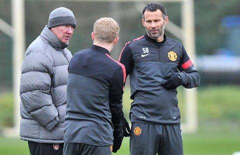 RÅDGIVER: Ryan Giggs (t.h.) avslører at han fortsatt bruker sir Alex Ferguson (t.v.) som rådgiver.