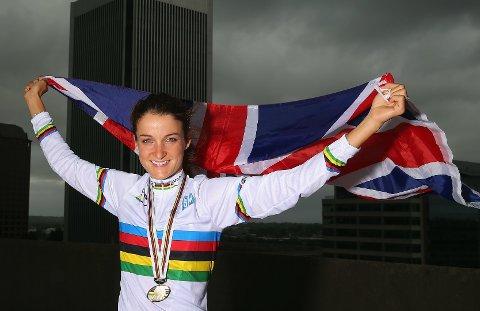 VM-VINNER: Lizzie Armitstead vant sykkel-VM i amerikanske Richmond i fjor, og er blant de store favorittene også i sommerens OL i Rio de Janeiro.