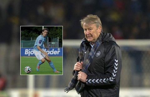 ISKALDT FORHOLD: Pawel Cibicki (innfelt) har lite positivt å si om sin tidligere trener i Malmø, Åge Hareide.