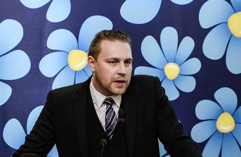 Sverigedemokraternas tidligere partileder og nåværende gruppeleder i Riksdagen, Mattias Karlsson.