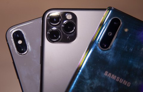 Vi har sammenlignet nattbilder tatt med henholdsvis iPhone X, nye iPhone 11 Pro og Samsung Note 10.