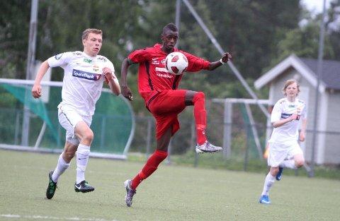 Talent: Moussa Njai skapte mye trøbbel for Strømsgodset i 8-delsfinalen på Lusetjern.