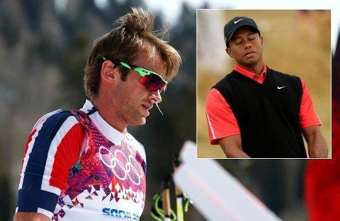 SKANDALER: Både Petter Northug og Tiger Woods har skapt overskrifter av utenomsportslige årsaker.