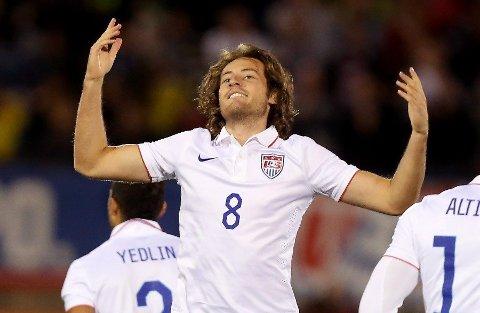 MÅLSCORER: «Mix» Diskerud scoret USAs mål i 1-1-kampen mot Ecuador på lørdag.