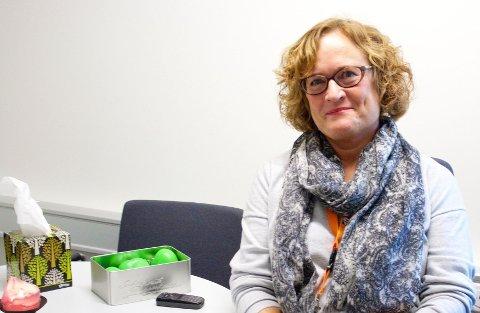 Helsesøster Nina Aurora Malm på Nydalen vgs. opplever stor pågang åp skolehelsetjenesten.