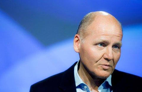 Konsernsjef Sigve Brekke under presentasjonen av resultatet 3. kvartal 2015 for Telenor.