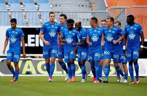 MÅLPÅ BESTILLING: Molde og Fredrik Brustad jubler for 1-0-målet i 4. runde i NM cupen mot FK Haugesund.