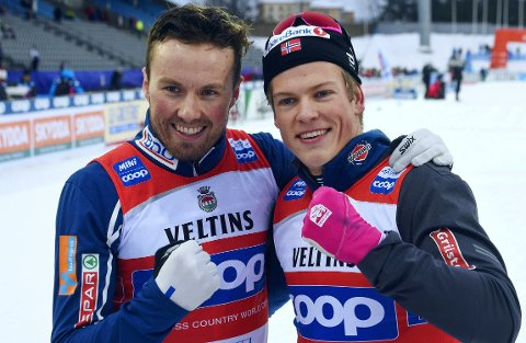 NORSK SPRINTDUO: Emil Iversen og Johannes Høsflot Klæbo. Nettavisens langrennsekspert er skeptisk til VM-programmet førstnevnte har foran seg.