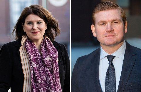 Leder Kari Sollien i Akademikerne kan glede seg over superrenten hun og medlemmene får av Danske Bank og pressesjef Øystein Schmidt.